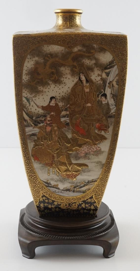 Fine Antique Japanese Kinkozan Satsuma Vase - 3