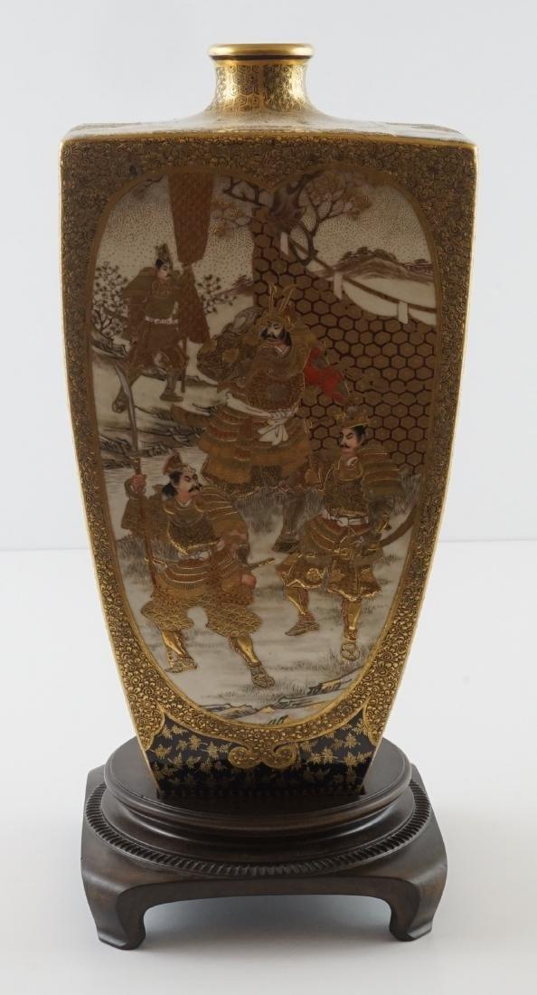Fine Antique Japanese Kinkozan Satsuma Vase - 5