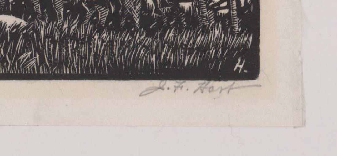 John Francis Hart Woodcut - 3