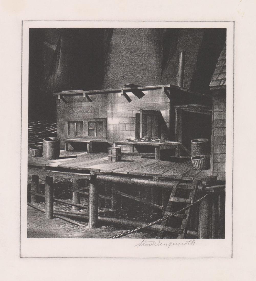 Stew Wengenroth Lithograph [An Eastport Wharf]