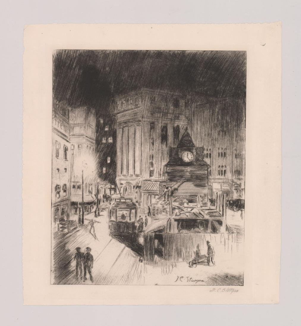 Dwight Sturges Etching - 2