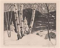 William MacLean Etching [Birch Ridge]