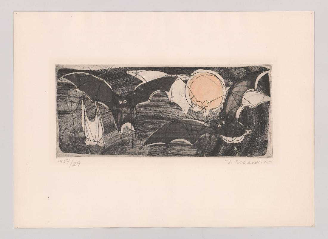 Jacques Schedler Etching - 2