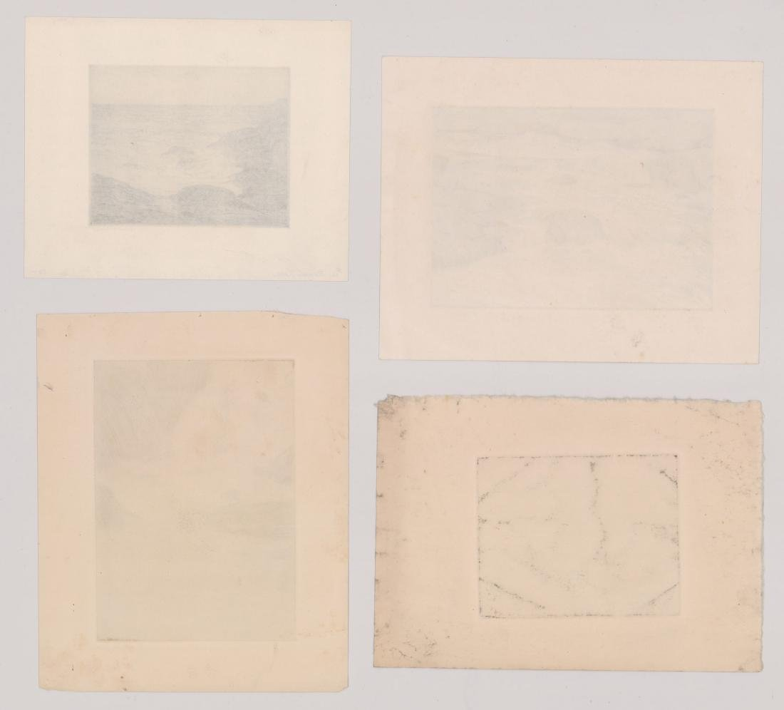 Four Robert Nisbet Signed Etchings - 2