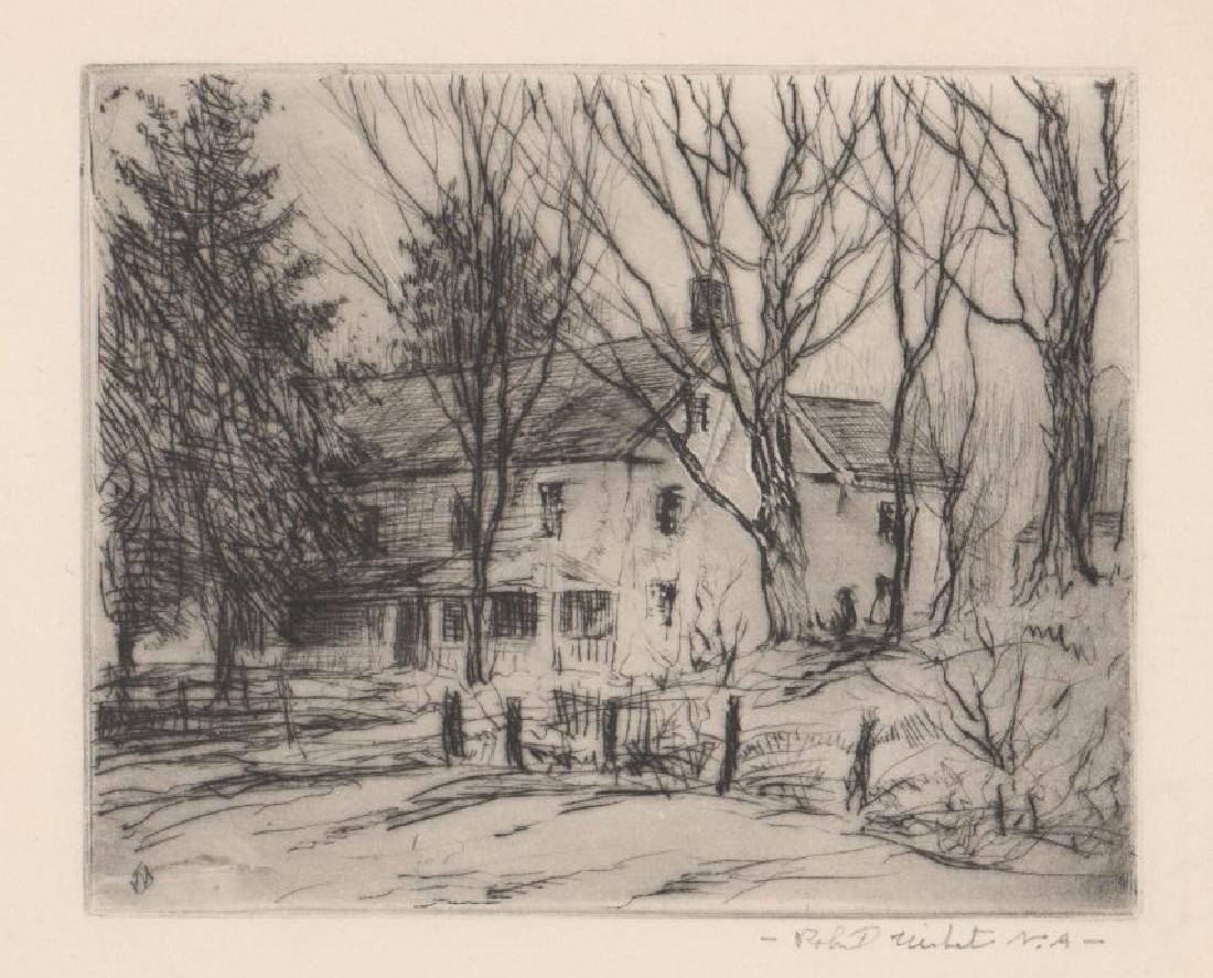 Four Robert Nisbet Signed Etchings - 4