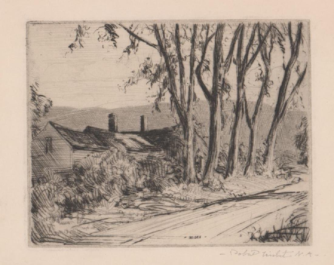 Four Robert Nisbet Signed Etchings - 5