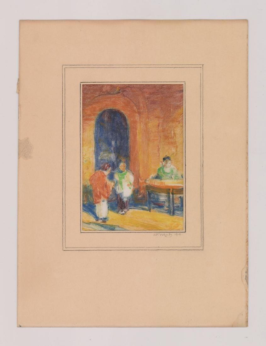 Henry Frederick Wentz (1876 - 1965) Monotype - 2