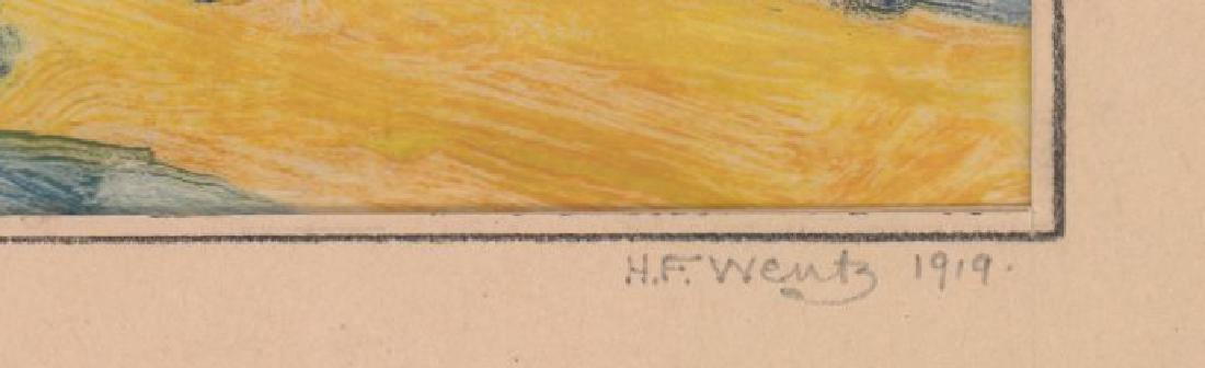 Henry Frederick Wentz (1876 - 1965) Monotype - 3