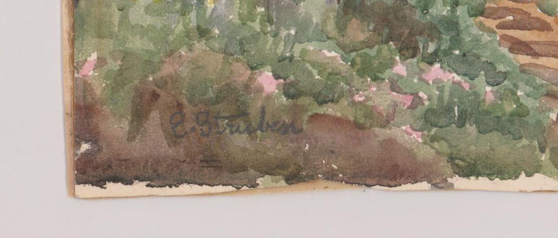 Edith Struben (1868-1936) Watercolor - 3