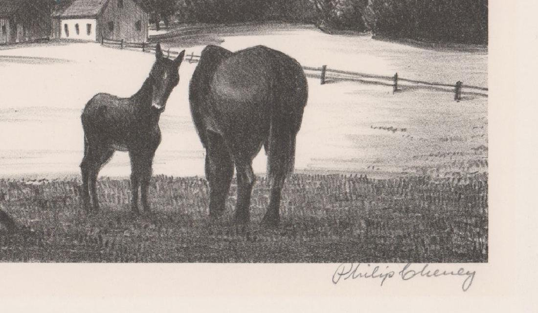 Philip Cheney Lithograph [Vermont Village] - 3