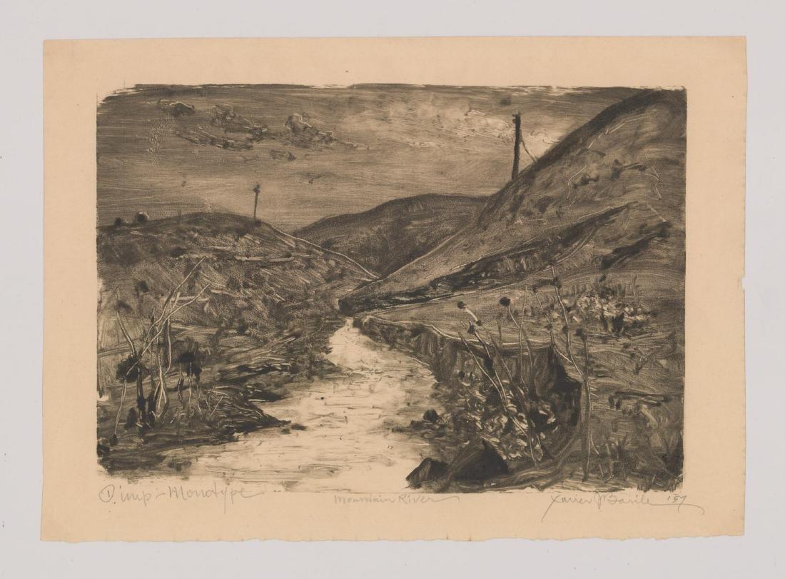 Xavier Barile (1891-1981) Monotype - 2