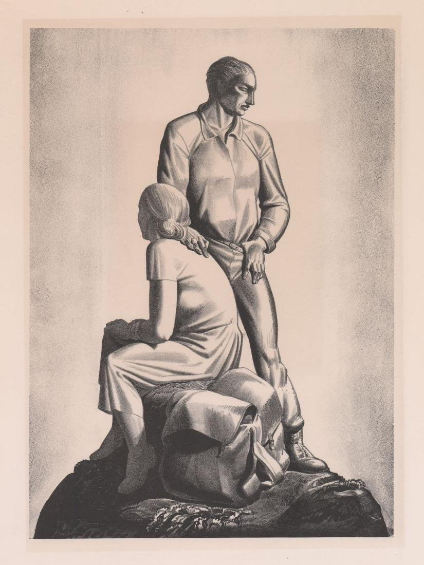 Rockwell Kent Lithograph [And Now Where]