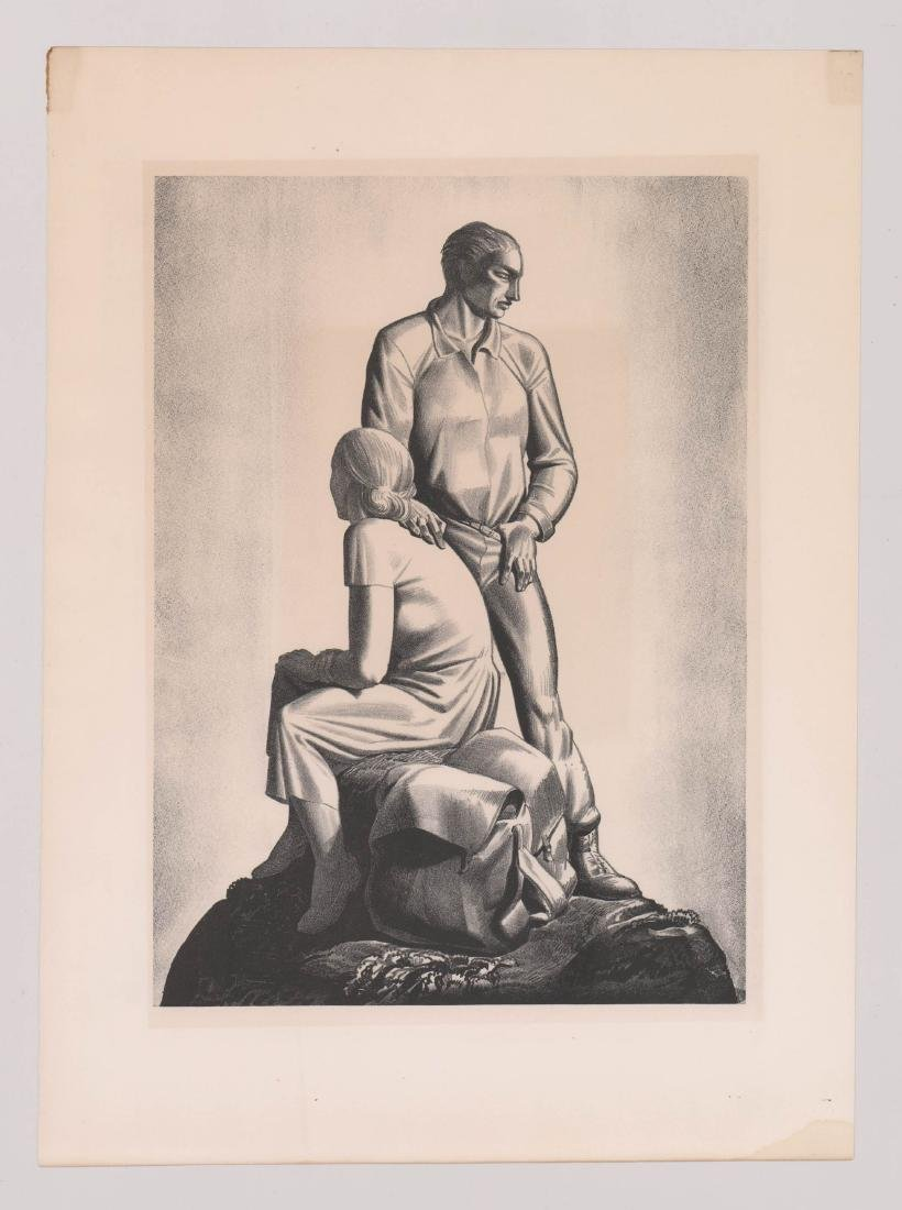 Rockwell Kent Lithograph [And Now Where] - 2