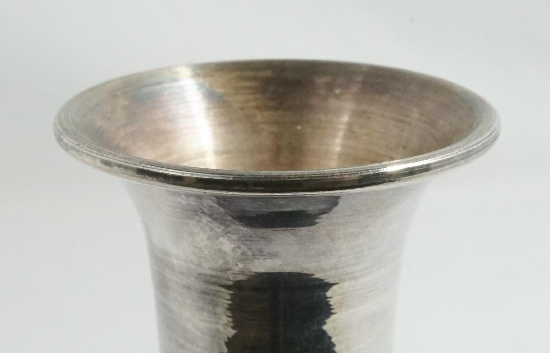 Fine Asian 99% Silver and Enamel Vase - 4