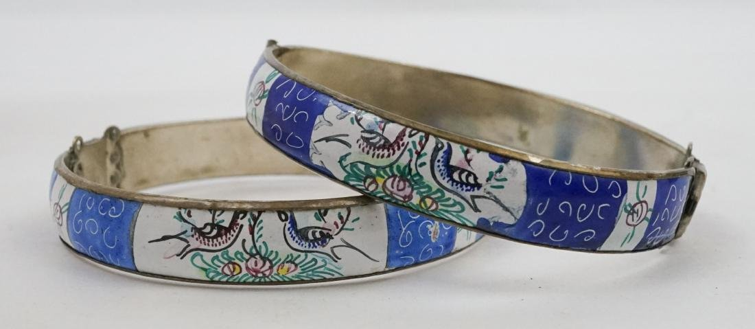 Two Persian Enamel Cuff Bracelets