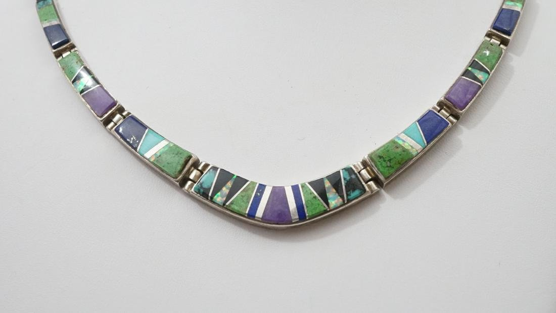 Calvin Begay Sterling and Inlaid Necklace - 2