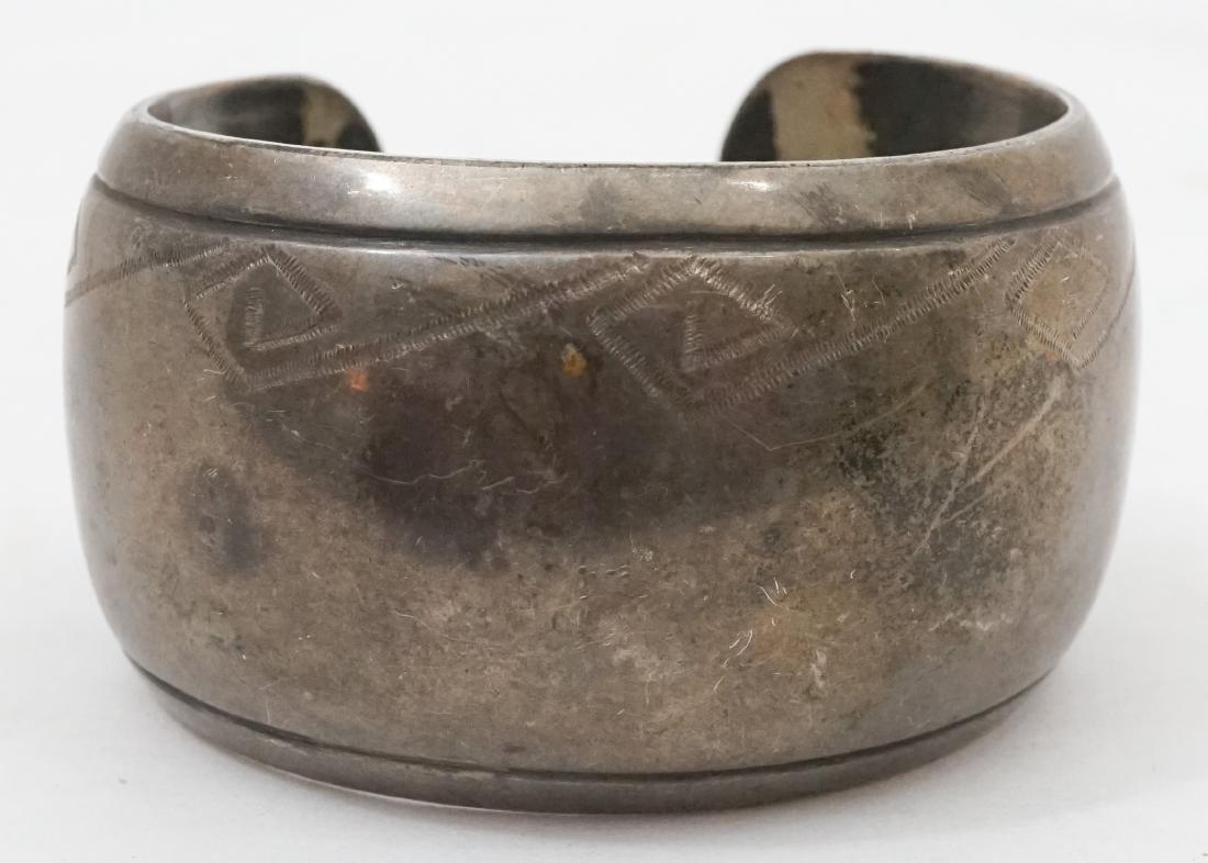 James Little Signed Navajo Cuff Bracelet