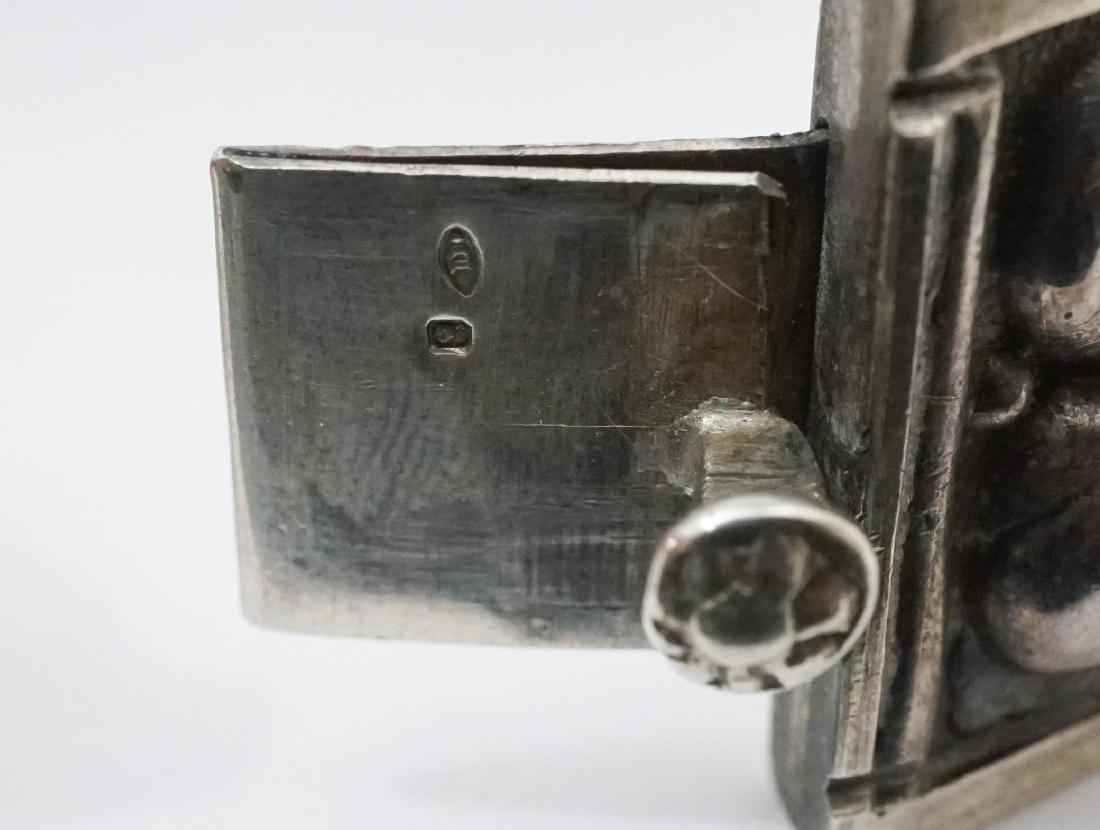 Continental Silver .833 Signed Floral Bracelet - 5