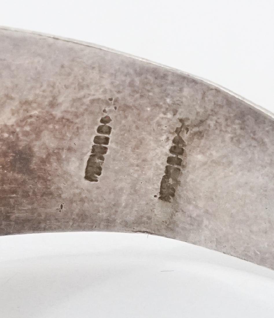 A Fine Old Silver Cuff Bracelet Signed Illegibly - 6