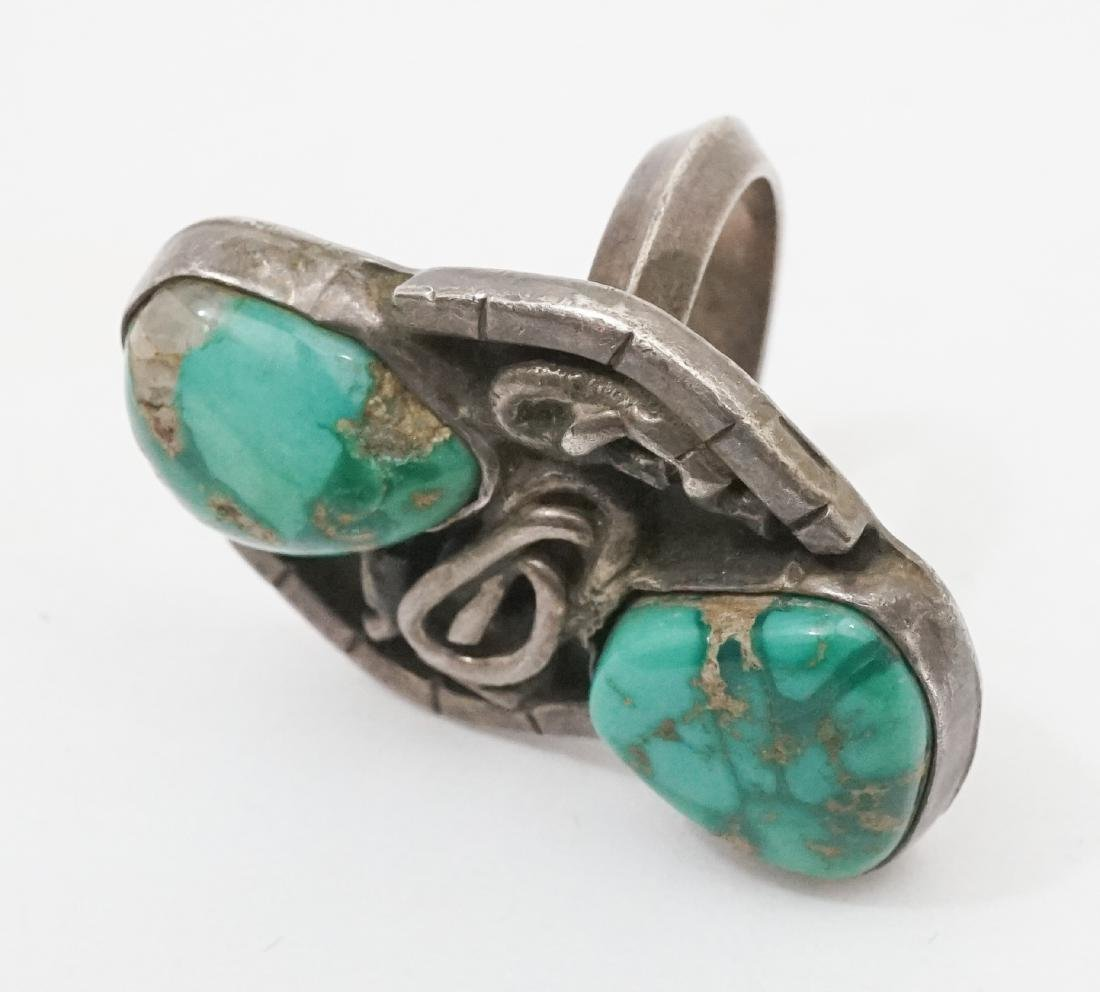 Old Pawn Navajo Ring With The Initial R