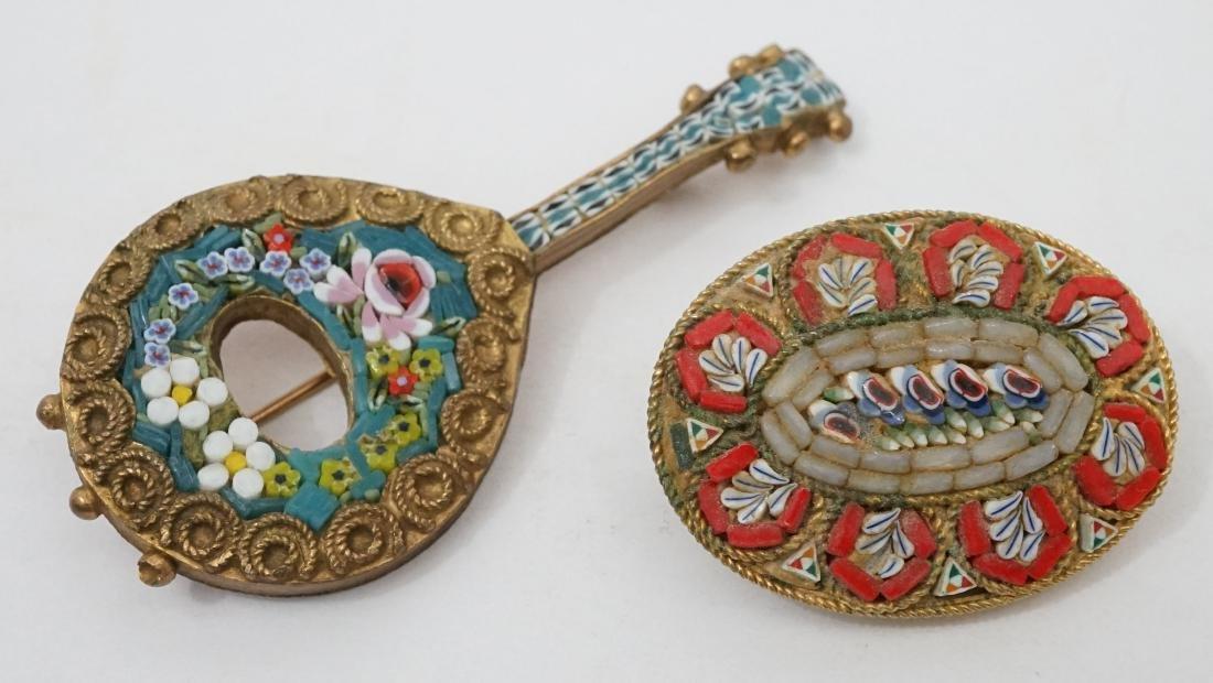 Two Micro Mosaic Pins