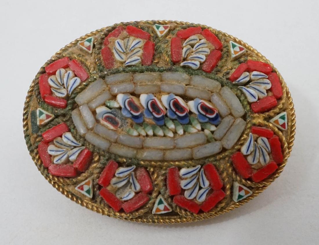 Two Micro Mosaic Pins - 5