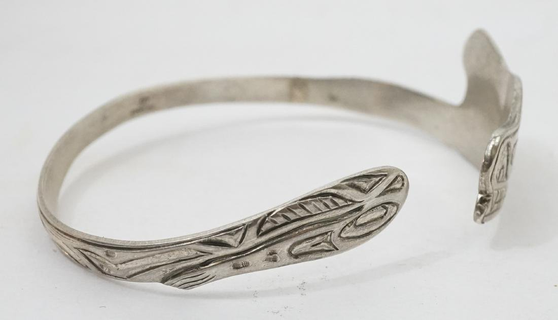 Northwest Coast Signed Sterling Cuff Bracelet ETJ - 2