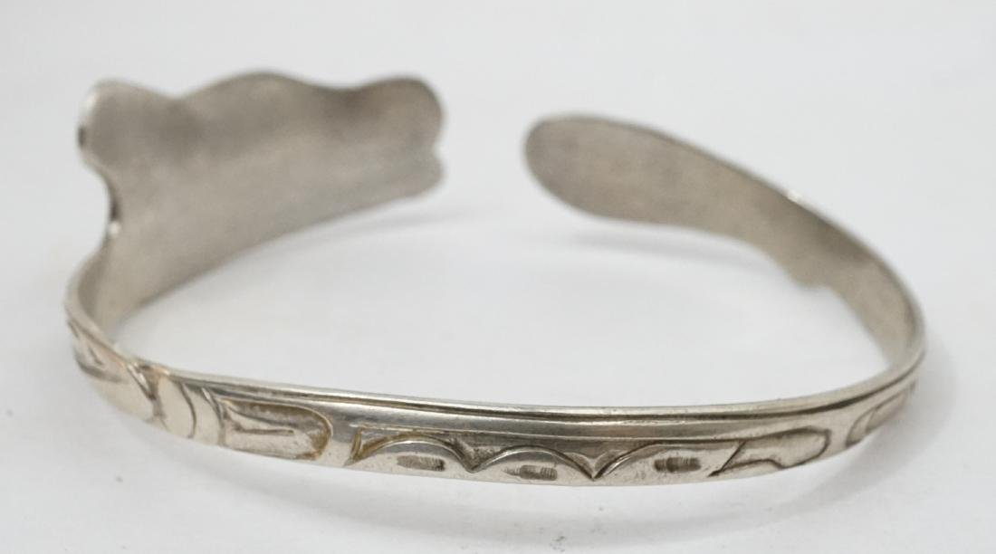Northwest Coast Signed Sterling Cuff Bracelet ETJ - 3