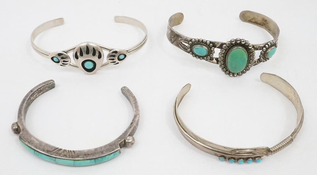 Four Southwest Native American Bracelets