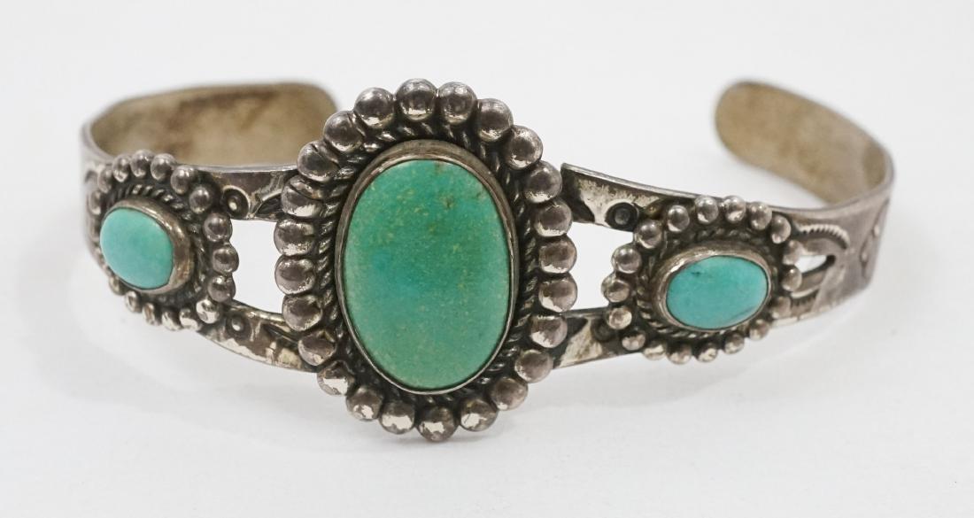 Four Southwest Native American Bracelets - 5
