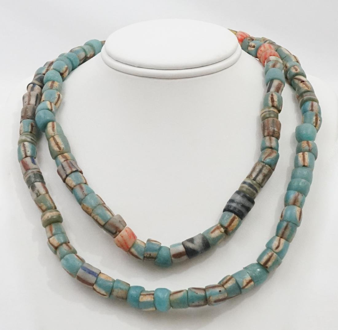 Ghanian Powder Glass Beads Necklace