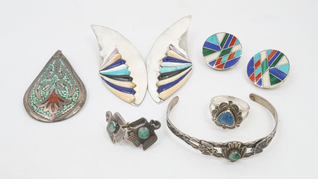 A Group of Native American Southwest Jewelry
