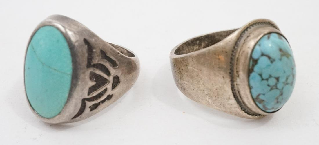 Ten Vintage Native American Southwest Rings - 2
