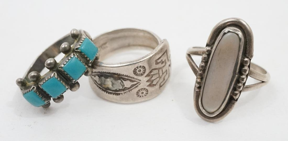 Ten Vintage Native American Southwest Rings - 3