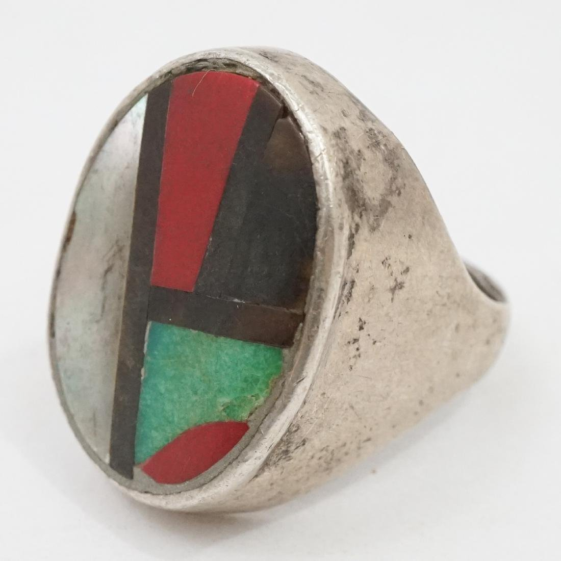 Ten Vintage Native American Southwest Rings - 6