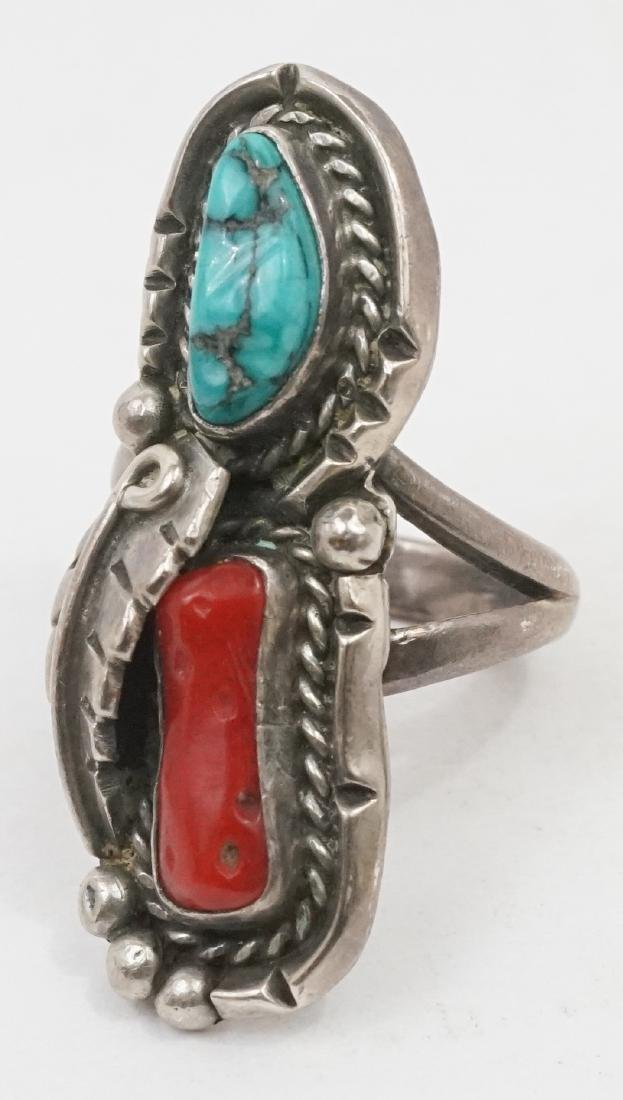 Six Vintage Signed Southwest Native American Rings - 2