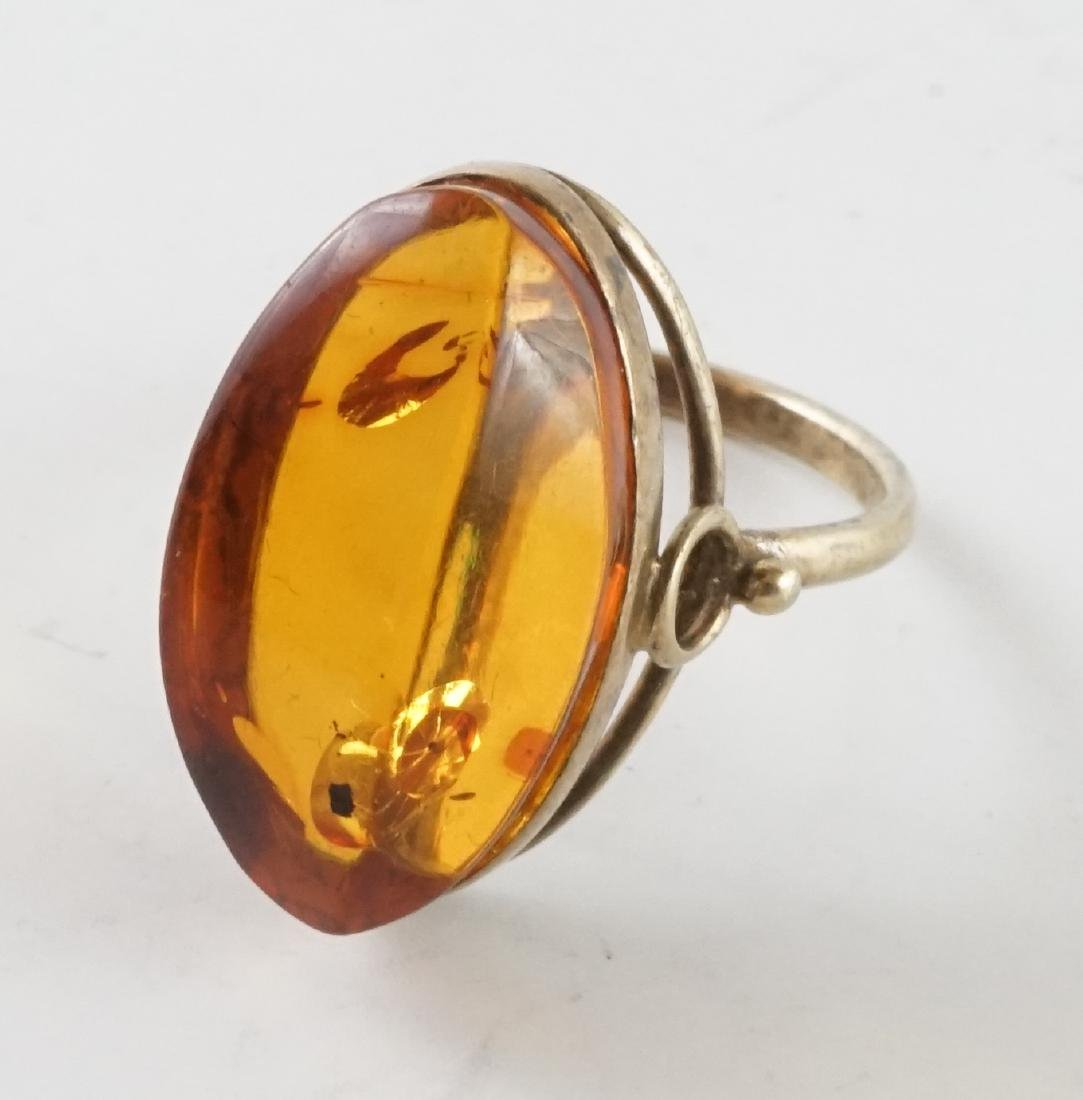 21k Gold Amber Woman's Ring