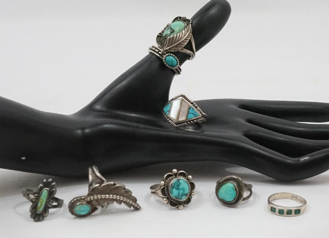 A Group of Southwest Sterling Rings - 2
