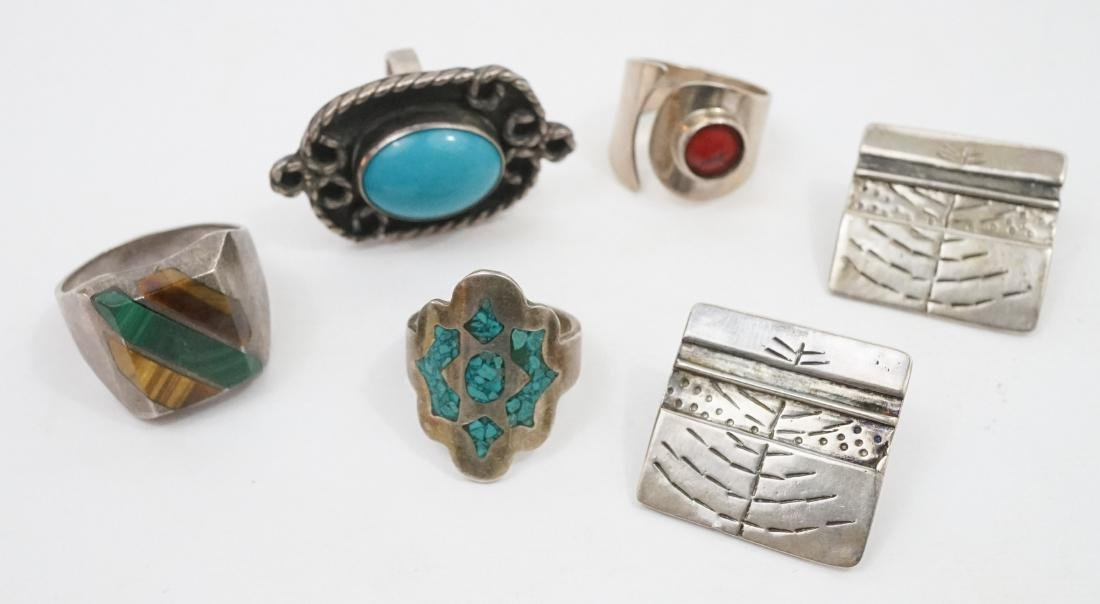 A Group of Mexican Sterling Jewelry - 3