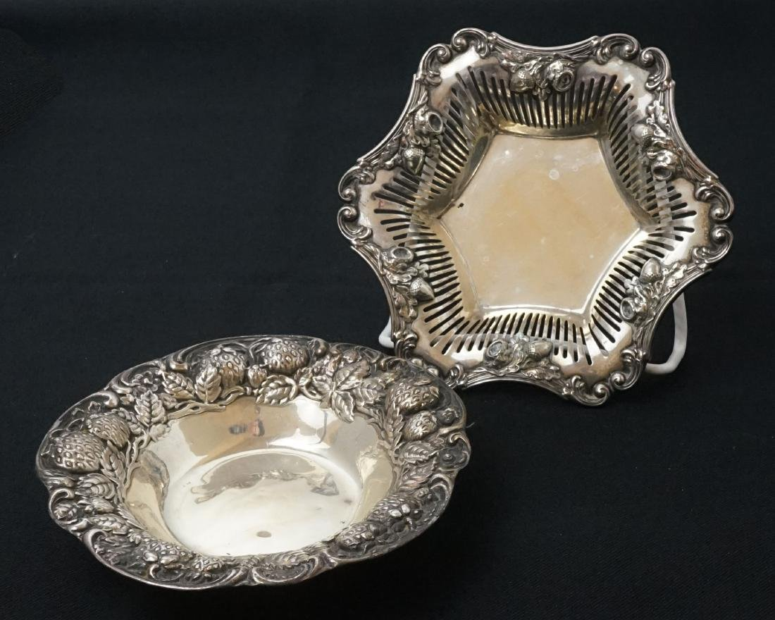 Two Sterling Silver Decorated Bowls