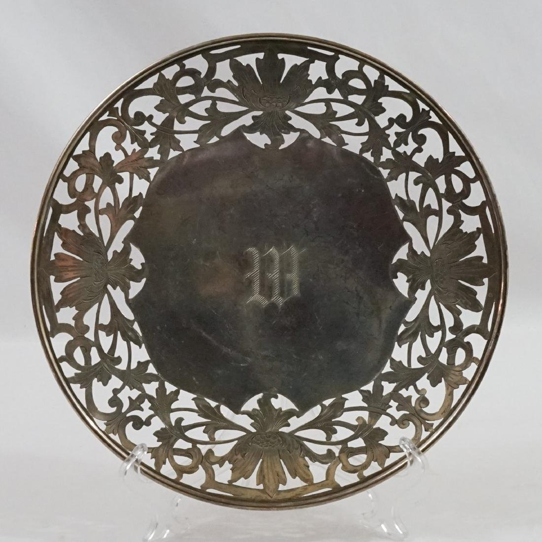 Two Sterling Silver Pierced Round Trays - 4