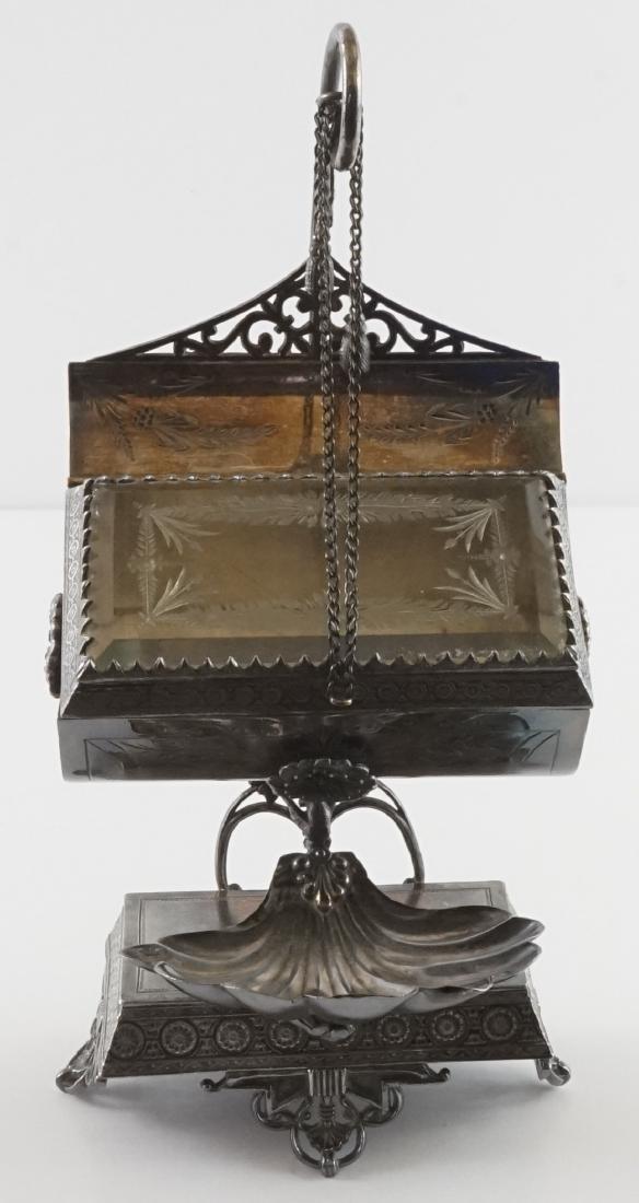 Rare Meriden Silver Plate Jewelry Casket