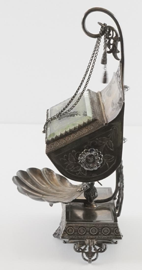 Rare Meriden Silver Plate Jewelry Casket - 2
