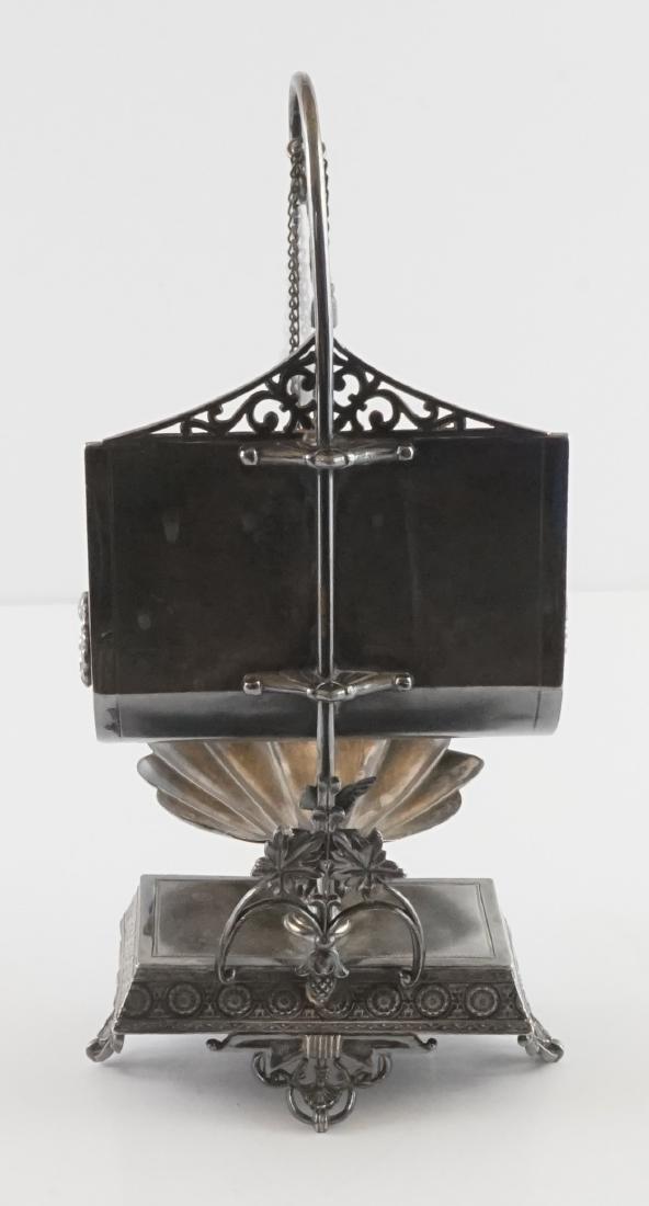 Rare Meriden Silver Plate Jewelry Casket - 3