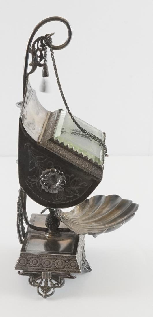 Rare Meriden Silver Plate Jewelry Casket - 4