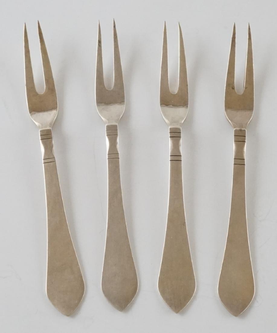 Four Georg Jensen Continental Sterling Forks