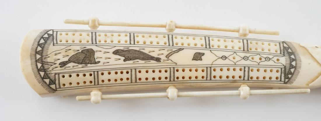 Alaskan Scrimshaw Cribbage Board - 2
