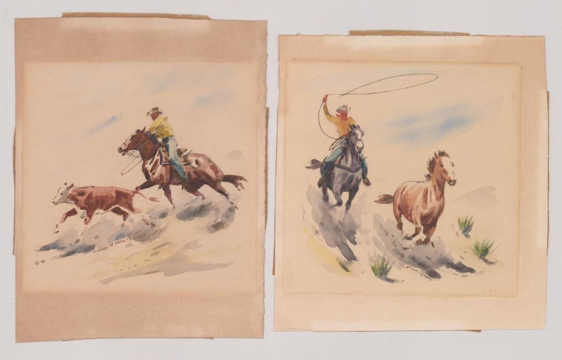 Stanley Long Pair of Original Watercolors
