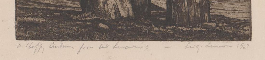 Luigi Lucioni Etching [Trees and Meadow] - 3
