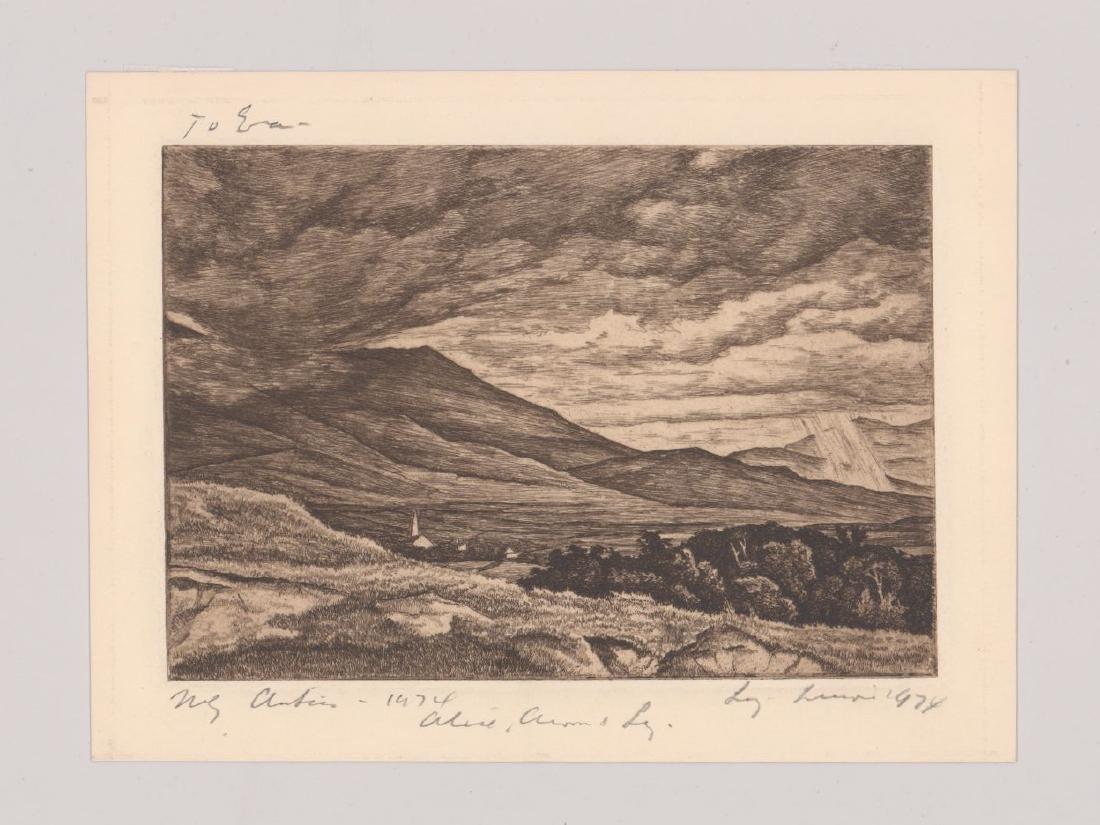 Luigi Lucioni Etching [Stormy Sky] - 2